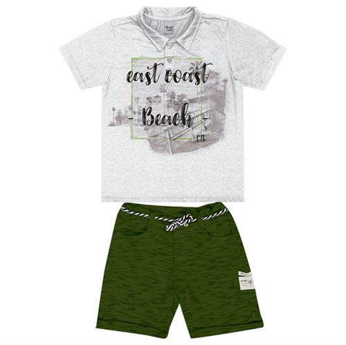 Conjunto Infantil Cata-Vento Beach Mescla e Verde 04
