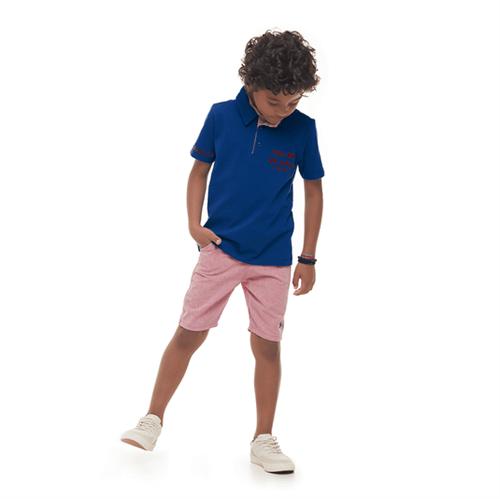 Conjunto Infantil Cata-Vento Polo Azul e Vermelho 04