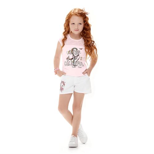 Conjunto Infantil Cata-Vento Unicórnio Rosa e Branco 04