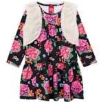 Conjunto Infantil Feminino Vestido + Colete Kyly 206648.9010.3