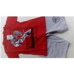 Conjunto Infantil Kyly Camiseta Meia Malha e Bermuda Moletom 108950