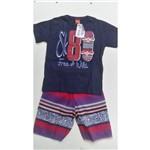 Conjunto Infantil Mas. Kyly Camiseta e Bermuda Micro. 108927