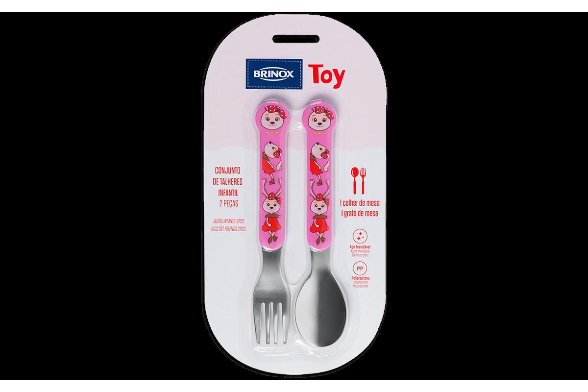 Conjunto Infantil 2 Peças Toy Rosa Brinox