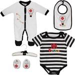 Conjunto Infantil Vasco da Gama Bebê 5 Peças