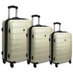 Conjunto Kit 3 Malas de Viagem Abs Expansivas Yin's Branco