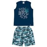 Conjunto Masculino Infantil Azul Marinho Boston Abrange