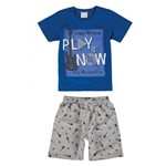 Conjunto Masculino Infantil Azul Royal Play It Now Malwee