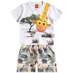 Conjunto Menino Safari Branco - Kyly