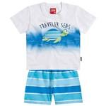 Conjunto Menino Viajante dos Mares Azul - Kyly P