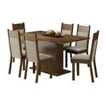 Conjunto Mesa de Jantar com 6 Cadeiras Louisiana Marrom Madesa