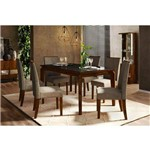 Conjunto Mesa de Jantar Rouge Dj Móveis 170cm C/ 6 Cadeiras Serena – Rústico/malbec/preto/bronze
