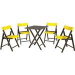 Conjunto Mesa e Cadeiras de Bar Potenza Amarelo - Tramontina