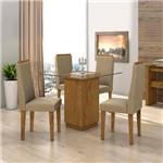 Conjunto Mesa Petra 0,90m com 4 Cadeiras Dafne - Lopas