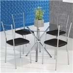 Conjunto Mesa PM22 e 4 Cadeiras PC16 - Pozza | Elare