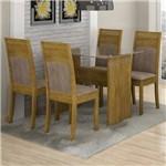 Conjunto Mesa Ravena 06 com 4 Cadeiras Ravena 1,20m