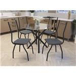Conjunto Mesa Redonda com 4 Cadeiras Malta Kappesberg - Preto