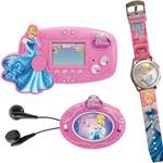 Conjunto Mini Game + Rádio FM + Relógio das Princesas Cinderela Candide