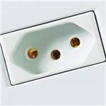 Conjunto Montado Lux² 4x2 - 1 Tomada NBR 14136 - 20A 250V~ - Branco - Tramontina