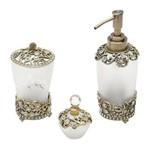 Conjunto para Banheiro 3 Peças em Vidro Jane Prestige