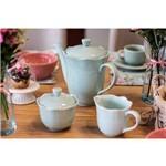 Conjunto para Café de Porcelana Princess Azul 3 Peças Lyor
