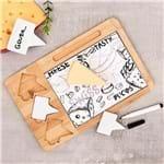 Conjunto para Queijo Cheese Design Lyor Bambu