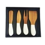 Conjunto para Queijo de Bambu Eco 4 Peças -27237