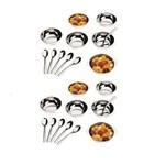 Conjunto para Sobremesa 24 Peças Aço Inox Jornata Brinox