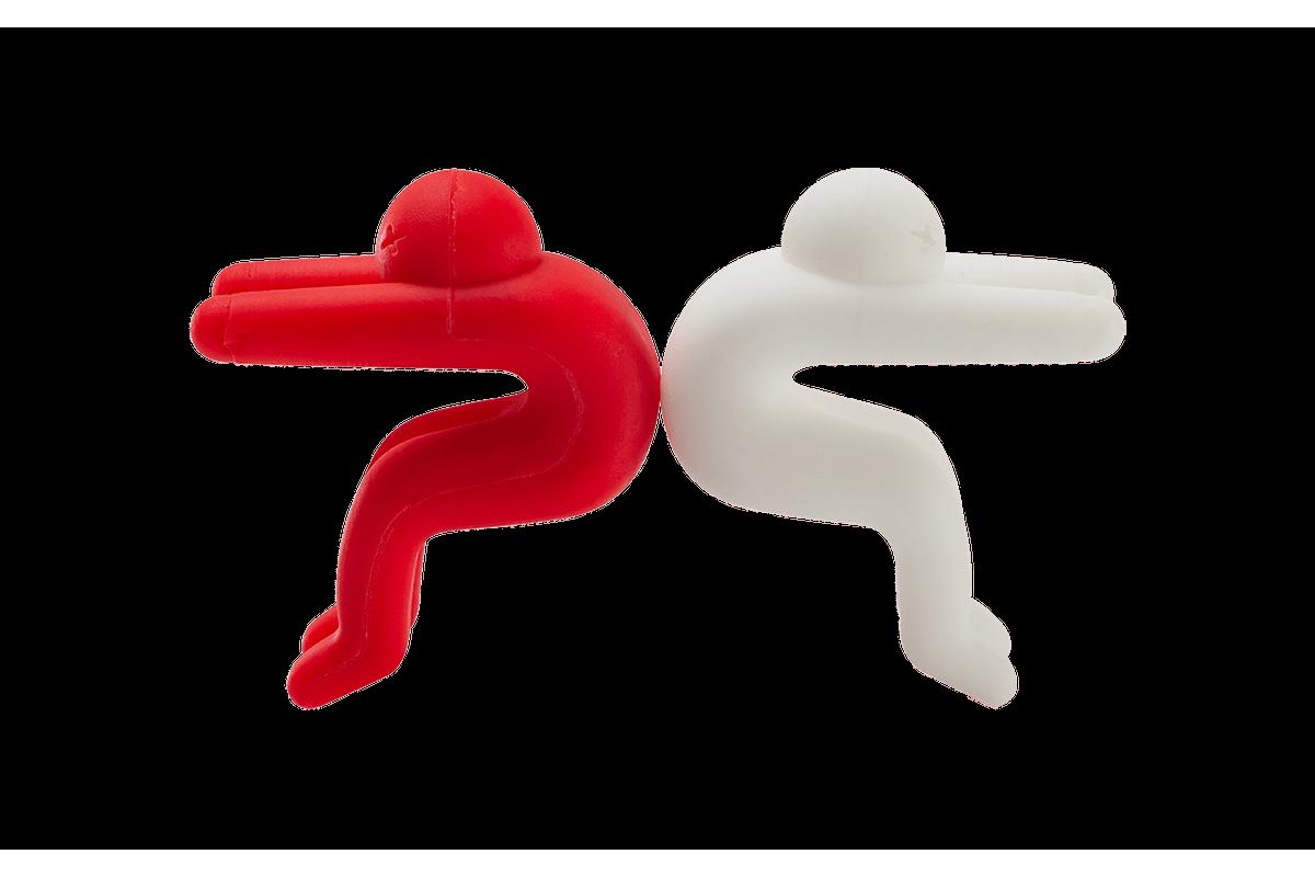 Conjunto 2 Peças para Suporte para Tampa de Panela Descomplica Vermelho / Branco Brinox