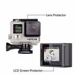 Conjunto Película de Proteção Tela LCD e Caixa Estanque para Câmera Hero 4 Silver