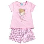 Conjunto Pijama Menina Adorável Pequena Princesa Rosa - Kyly 1