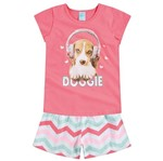 Conjunto Pijama Menina Cãozinho Rosa - Kyly 4