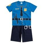 Conjunto Pijama Menino Departamento de Polícia - Kyly 1