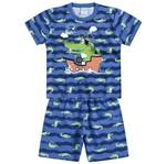 Conjunto Pijama Menino Jacaré Azul - Kyly 1