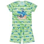 Conjunto Pijama Menino Jacaré Verde - Kyly 1