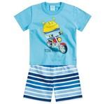 Conjunto Pijama - Passeio Divertido Azul - Kyly 1