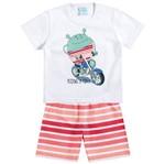 Conjunto Pijama - Passeio Divertido Branco - Kyly 1