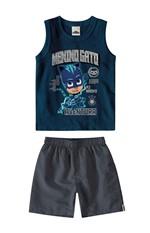 Conjunto PJ Masks® Menino Malwee Kids Azul Escuro - 1