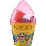 Conjunto Play-Doh Cone Sorvete Rosa - Hasbro