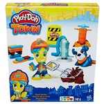 Conjunto Play-Doh Town Figura e Animal Road Worker e Pet - Hasbro