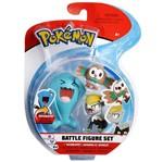 Conjunto Pokémon - Wobbuffet, Jangmo-o e Rowlet - DTC