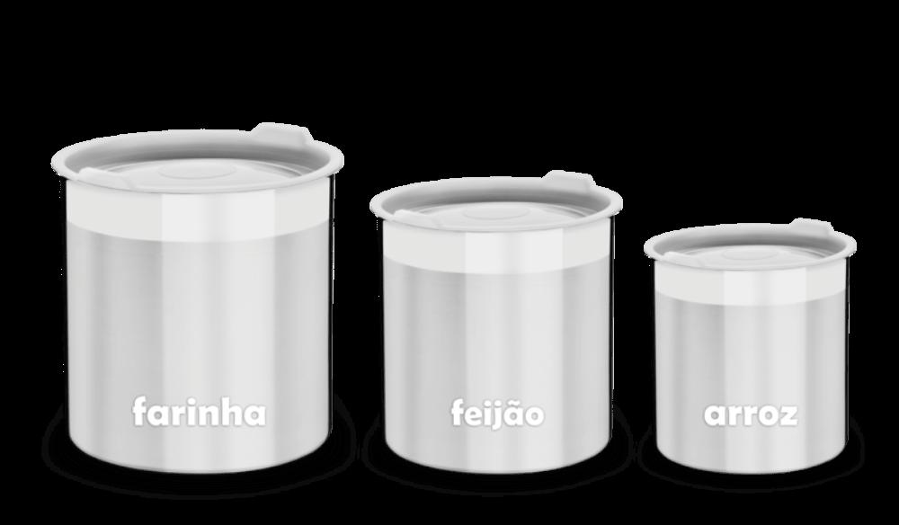 Conjunto 3 Potes Inox Cucina Tramontina - Occa Moderna