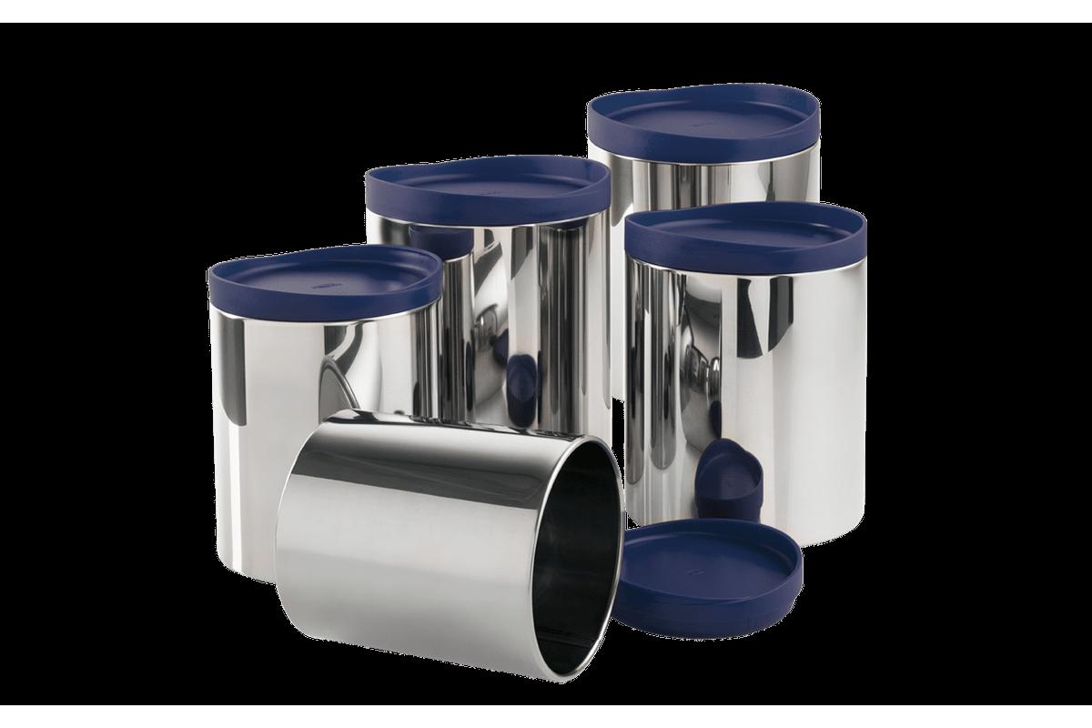 Conjunto Potes para Mantimentos - Suprema Azul Brinox