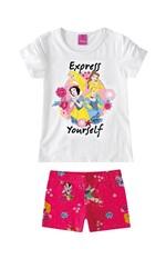 Conjunto Princesas da Disney® Menina Malwee Kids Branco - 1