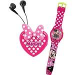 Conjunto Rádio FM + Relógio Minnie Candide