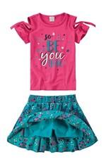 Conjunto Recortes Menina Malwee Kids Rosa - 4