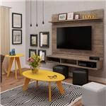 Conjunto Sala de Estar com Painel, Mesa de Centro e Mesa de Apoio Colors Artely