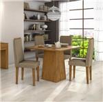 Conjunto Sala de Jantar com Mesa e 4 Cadeiras Ômega