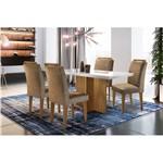 Conjunto Sala de Jantar com Mesa Euro II e 4 Cadeiras Animali Chocolate, Charlotte