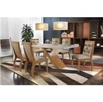 Conjunto Sala de Jantar com Mesa Fernie e 6 Cadeiras Animale Chocolate, Ysla II