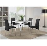 Conjunto Sala de Jantar com Mesa Gaudi e Cadeira Melani